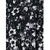 Fashionable Sleeveless Cut Out Slimming Floral Print Women's Dress - BLACK M