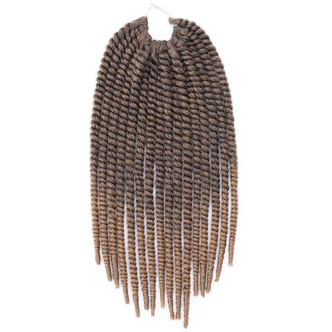 Two-Tone Ombre Stylish Braids Synthetic Senegal Twists Women's Hair Extension - COLORMIX