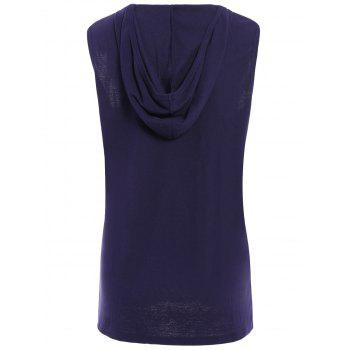Trendy Hooded Solid Color Sleeveless Men's Tank Top - SAPPHIRE BLUE SAPPHIRE BLUE