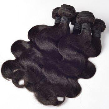 Vogue 7A Virgin Hair Body Wave Black 1 Pcs/Lot Women's Brazilian Human Hair Weave - BLACK 22INCH