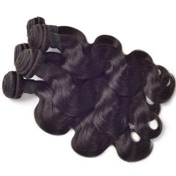 Vogue 7A Virgin Hair Body Wave Black 1 Pcs/Lot Women's Brazilian Human Hair Weave - 18INCH 18INCH
