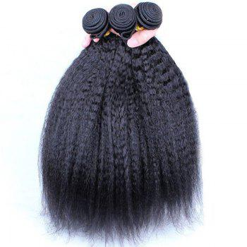 Fluffy Yaki droite Vogue Noir 1 Pcs / Lot Les femmes s '7A Virgin Brazilian Hair Weave