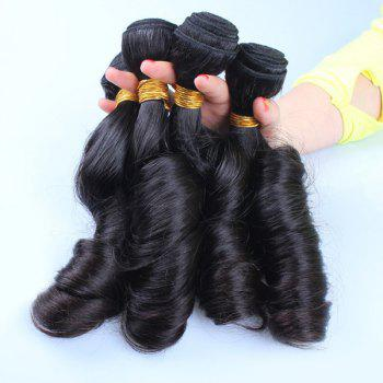 1 Pcs/Lot Fashion Natural Black Spring Curly 7A Virgin Brazilian Hair Weave For Women - BLACK BLACK