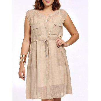 Chic Plus Size Cami Dress + Solid Color Sleeveless Cardigan Women's Twinset