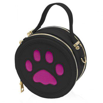 Cute Paw Print and Round Shape Design Women's Tote Bag