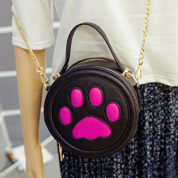 Cute Paw Print and Round Shape Design Women's Tote Bag - BLACK