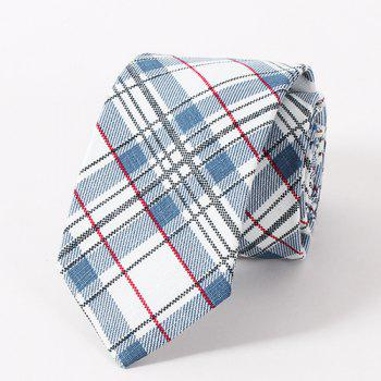Stylish Plaid Pattern Casual Style Men's Tie