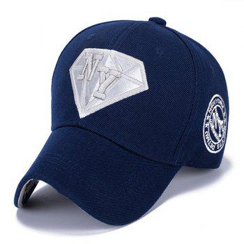 Stylish Letter Embroidery and Diamond Shape Embellished Casual Baseball Cap