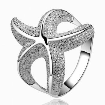 Alloy Starfish Shape Ring