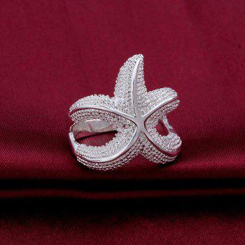 Alloy Starfish Shape Ring - SILVER ONE-SIZE