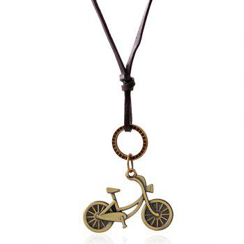 Vintage Double Layered Gold Plated Bike Pendant Necklace
