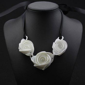 Floral Shape Ribbon Necklace