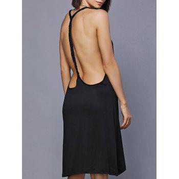 High Low Backless Mini Swing Dress