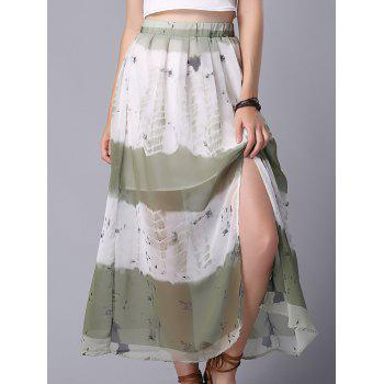 Stylish High Waist Tie Dye Chiffon Women's Skirt