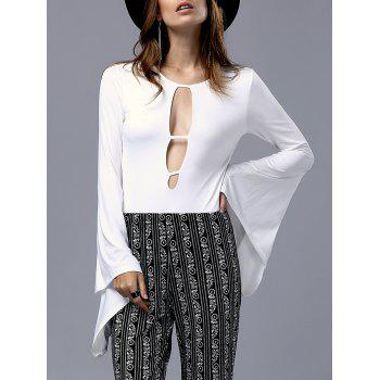 Sultry Cut-Out Bell Sleeve Women's Bodysuit