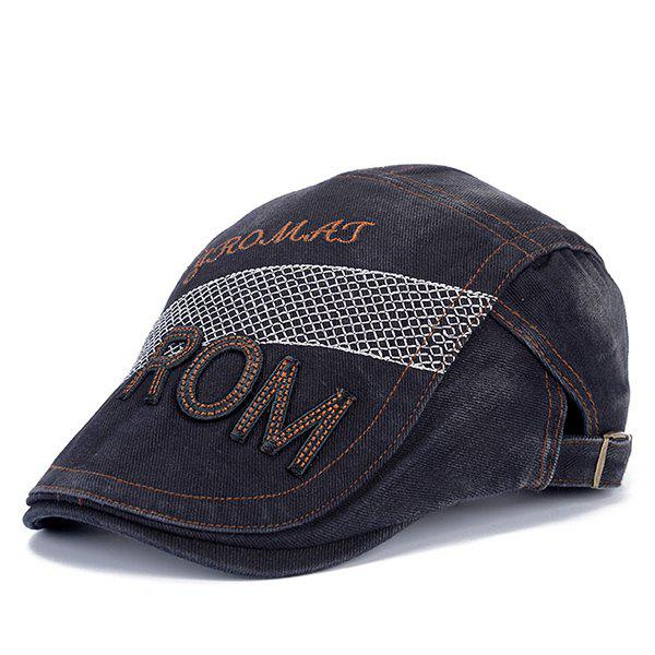 Stylish Letter Shape and Mesh Embellished Men's Cabbie Hat