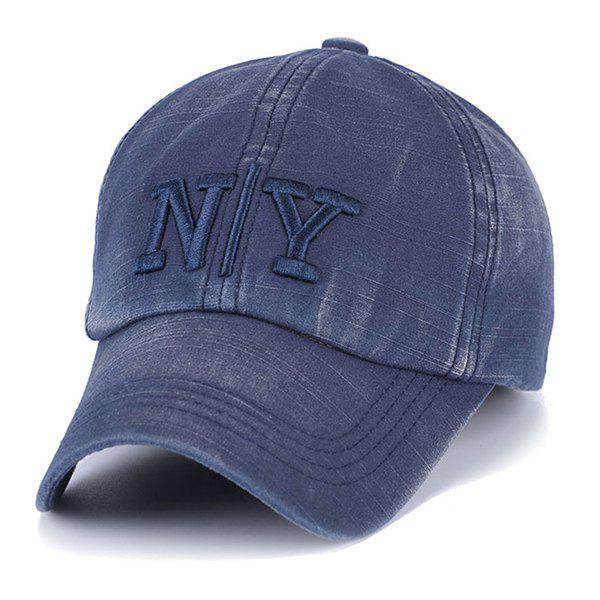 Cool Summer Short Stripe and Letter Embroidered Trucker Baseball Cap