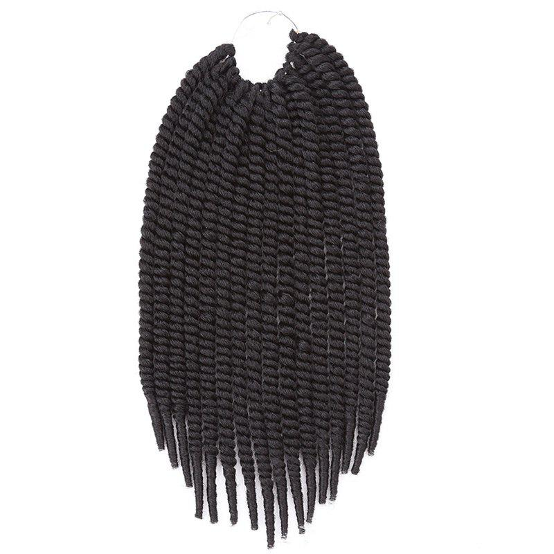 Stylish Heat Resistant Fiber Senegal Twists Braids Hair Extension For Women - JET BLACK