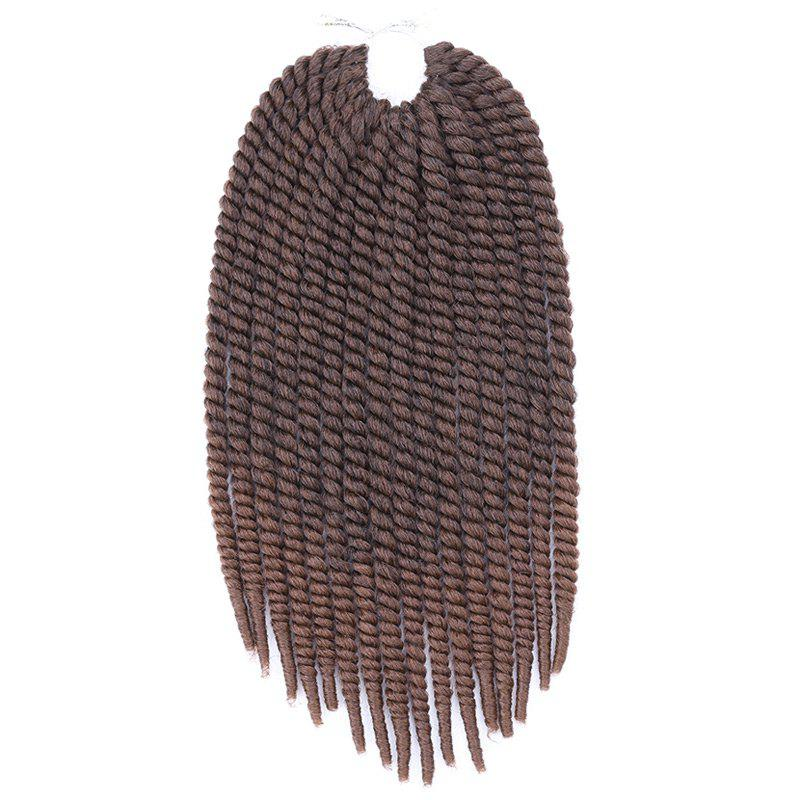 Vogue Braids Synthetic Brown Gradient Senegal Twists Hair Extension For Women - COLORMIX