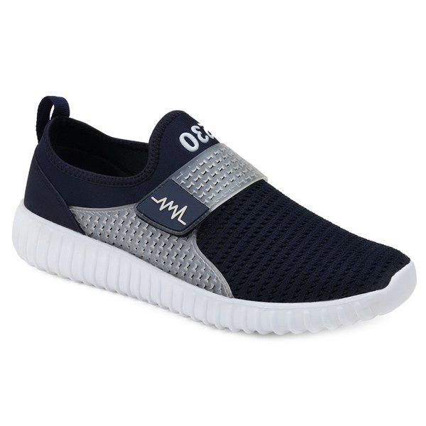 Simple Mesh and Color Block Design Men's Casual Shoes