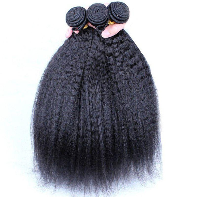 Fluffy Yaki Straight Vogue Black 1 Pcs/Lot Women's 7A Virgin Brazilian Hair Weave 2016 top quality brazilian virgin hair kinky straight queen hair product unprocessed human hair weave 1 bundles lot italian yaki