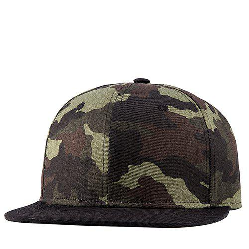 Stylish Military Camouflage Pattern Hipsters Street Snap Style Baseball Cap - GREEN