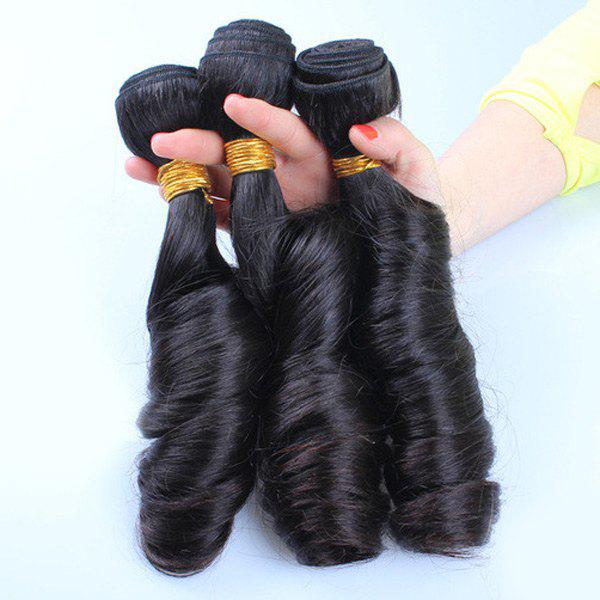 1 Pcs/Lot Fashion Natural Black Spring Curly 7A Virgin Brazilian Hair Weave For Women - BLACK 12INCH