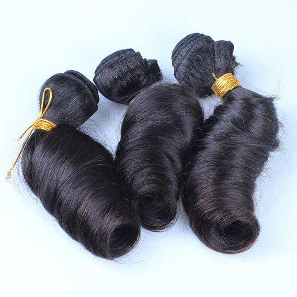 1 Pcs / Lot Mode Natural Black Spring Curly 7A Virgin Brazilian Hair Weave pour les femmes - Noir 12INCH