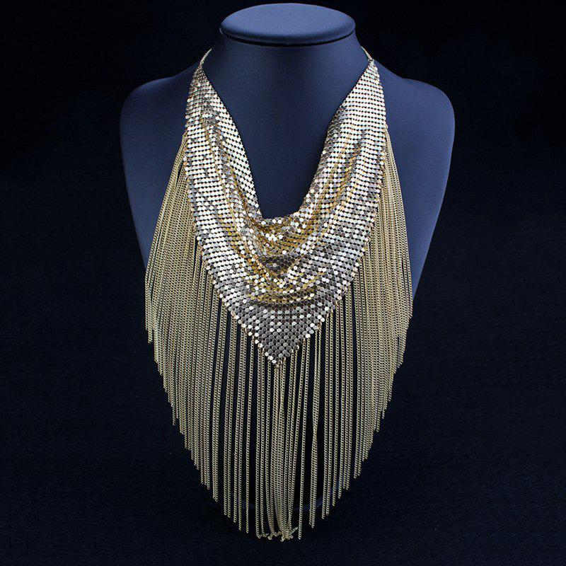 Chic Sequins Sweater Chain For Women - GOLDEN
