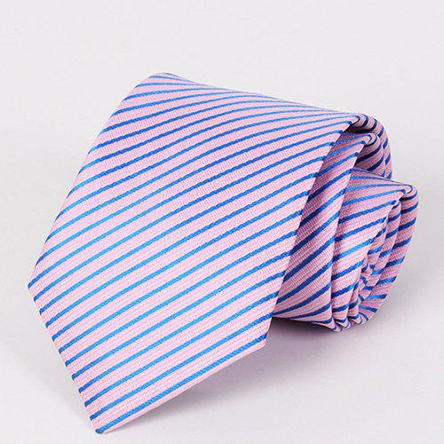 Stylish Twill Pattern Professional Style Men's Pink Tie - PINK