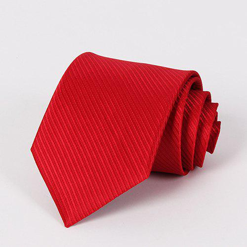Stylish Wedding Formal Occasion Men's Bright Red Tie - RED