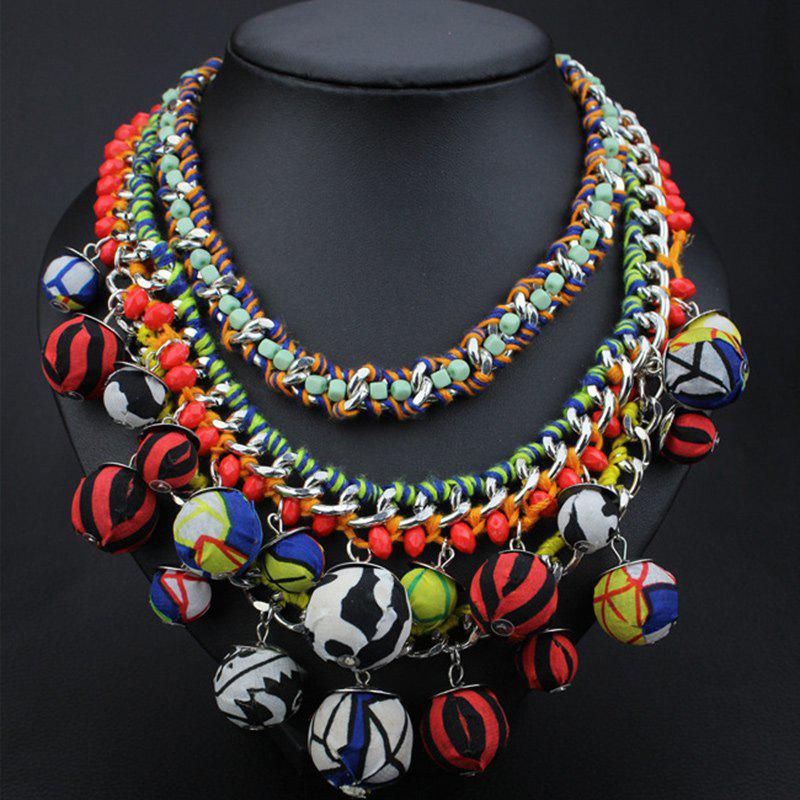 Multilayered Balls Necklace - COLORMIX
