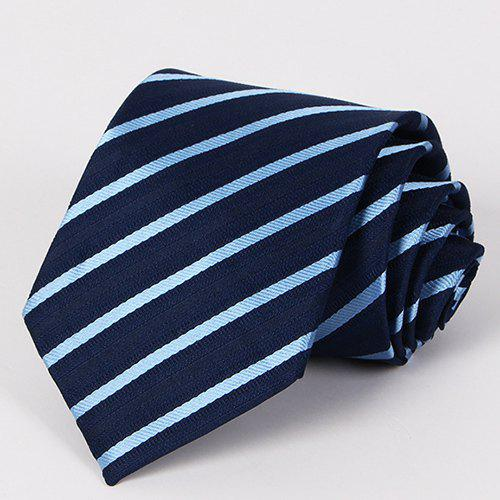 Stylish Twill Pattern Men's Deep Blue Tie - DEEP BLUE