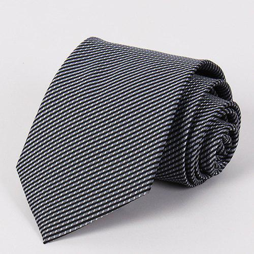 Stylish Slender Twill Pattern Men's Black Tie - BLACK
