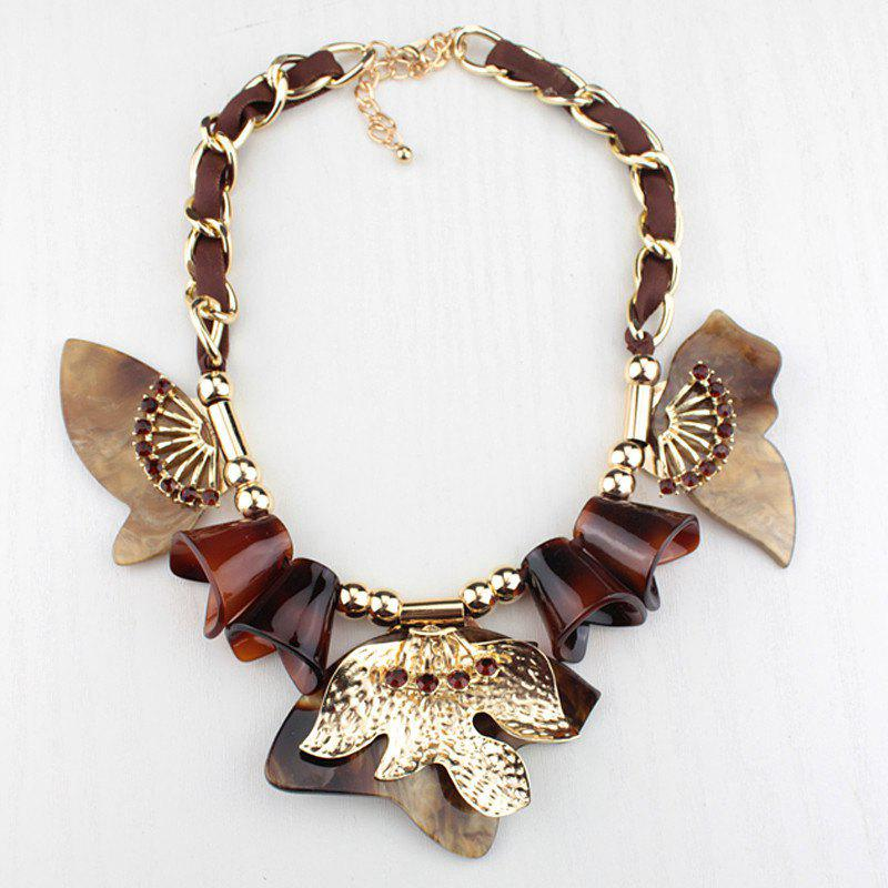 Alloy Butterfly Necklace - FLAX