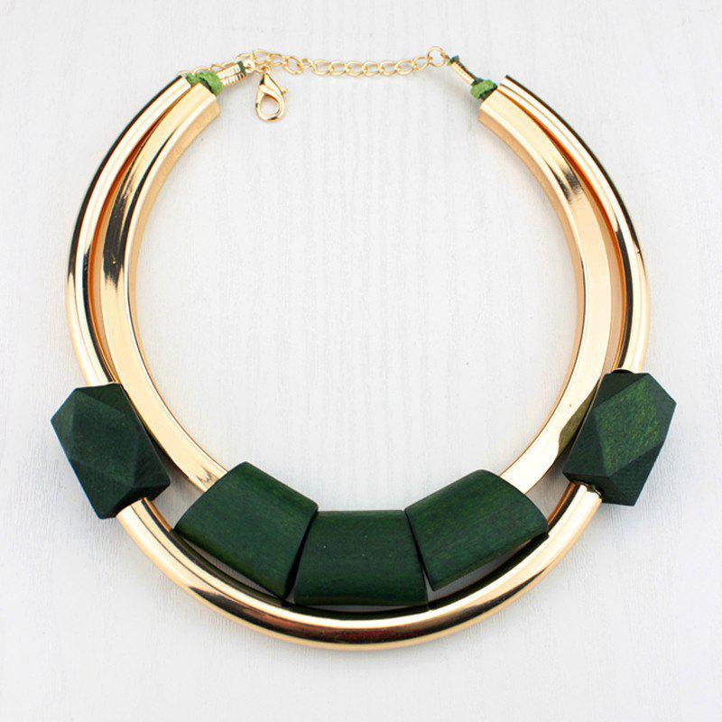 Alloy Layered Necklace - GREEN