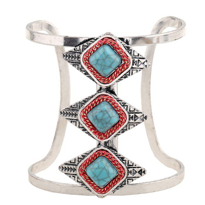 Gorgeous Faux Turquoise Cuff Geometric Bracelet For Women