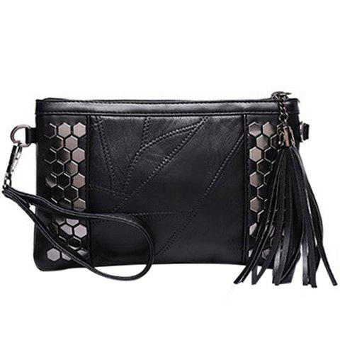 Casual Metal and Stitching Design Women's Clutch Bag