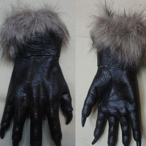 Pair of Halloween Wolfclaw Glove Cosplay Prop For Fancy Ball Party Show - BLACK