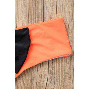 Sexy Style Bowknot Embellished Color Block Women's Briefs - ORANGE ORANGE