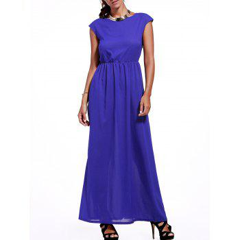 Cap Sleeve High Waisted Maxi Dress