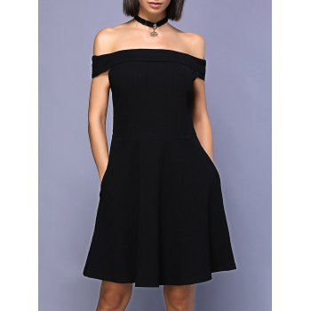 Mini A-Line Off The Shoulder Dress
