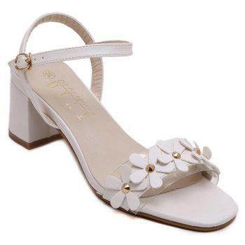 Casual Transparent Plastic and Flowers Design Women's Sandals