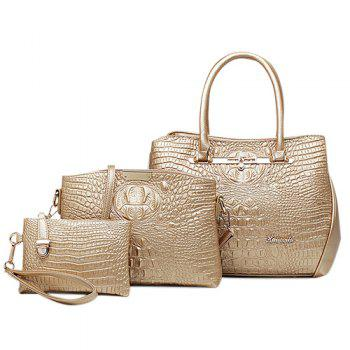 Fashion Embossing and Solid Color Design Women's Tote Bag