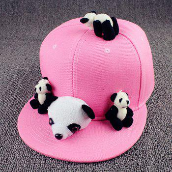 Chic Cartoon Pandas Shape Toy Embellished Women's Pink Baseball Cap