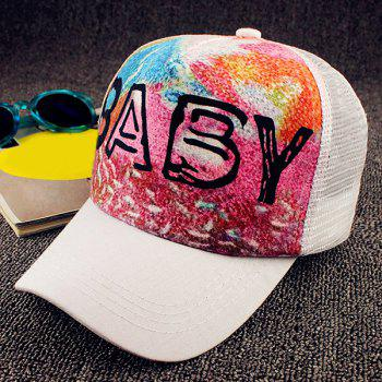 Chic Letter and Colorful Tie-Dyed Pattern Women's Baseball Cap