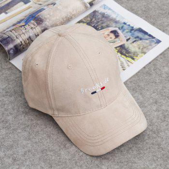 Fashion Letters and Traffic Baton Embroideried Street Hipsters Suede Baseball Cap