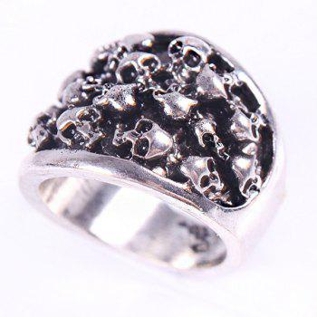 Skull Shape Ring - SILVER ONE-SIZE