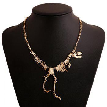 Dinosaur Skeleton Alloy Necklace