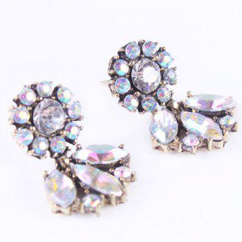 Pair of Faux Crystal Embellished Earrings